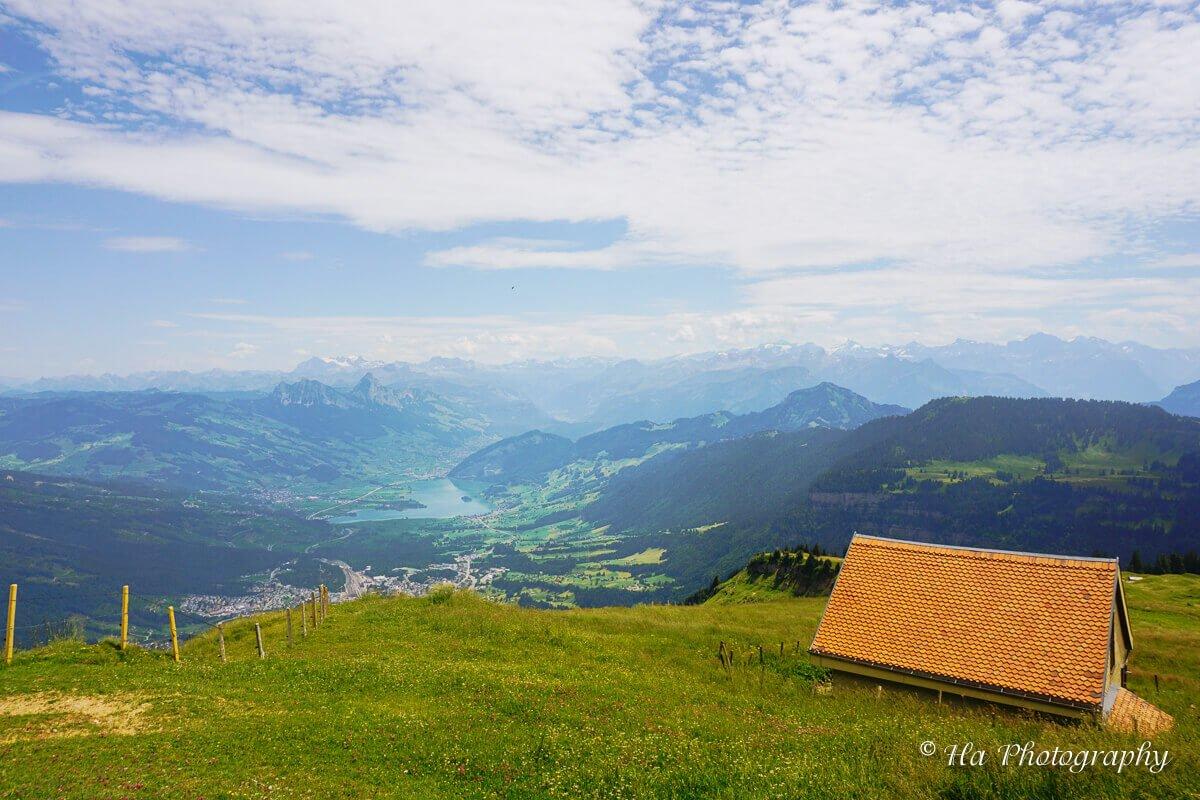 Mount Rigi view Switzerland.