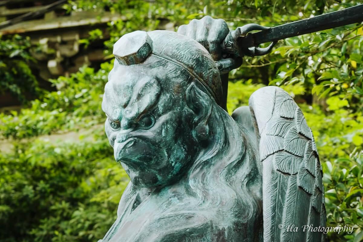 Mount Takao temple statue Japan.