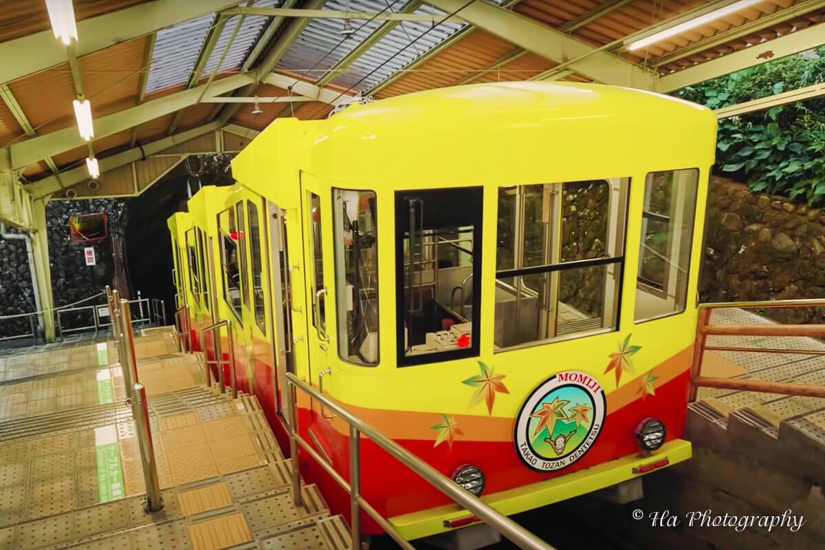 Mount Tako cable car Japan.