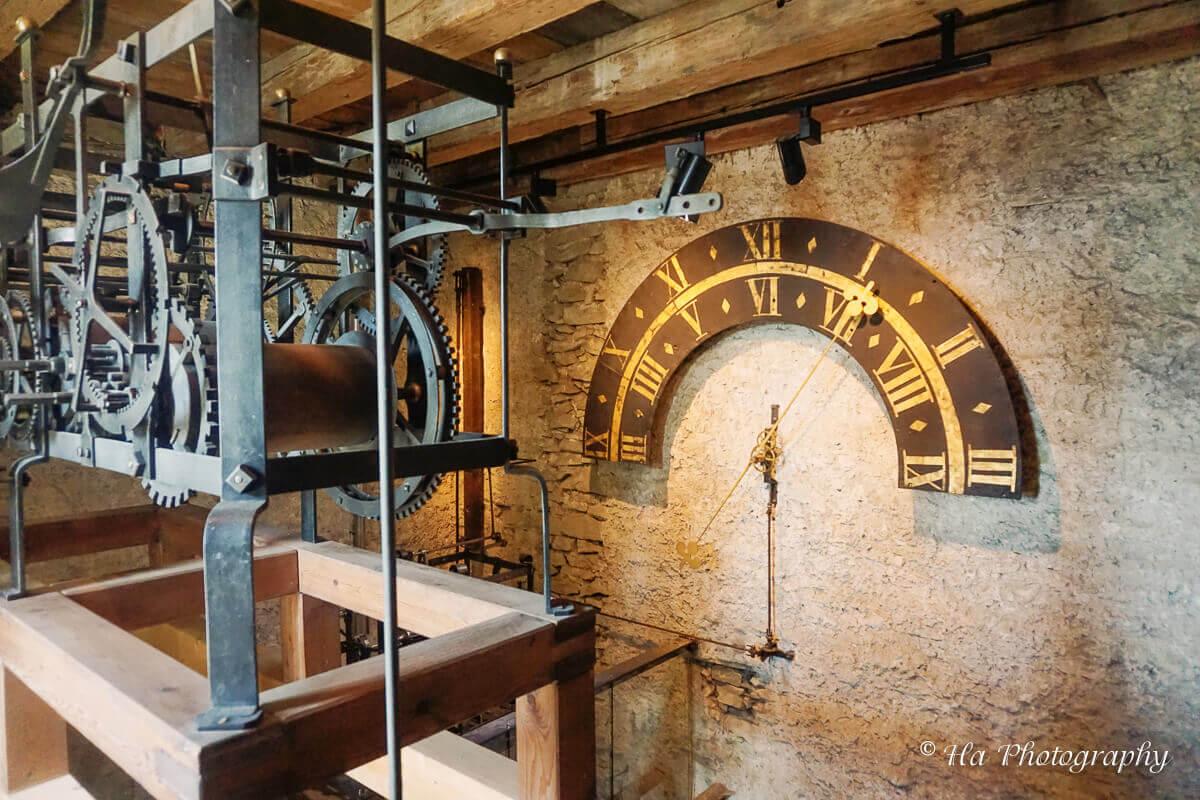 Museggmauer Zyt tower engine Lucerne Switzerland.