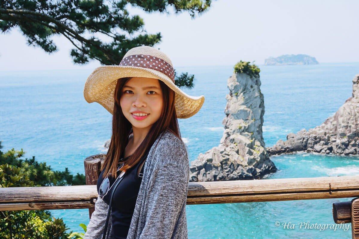 Oedolgae Rock Jeju island South Korea.