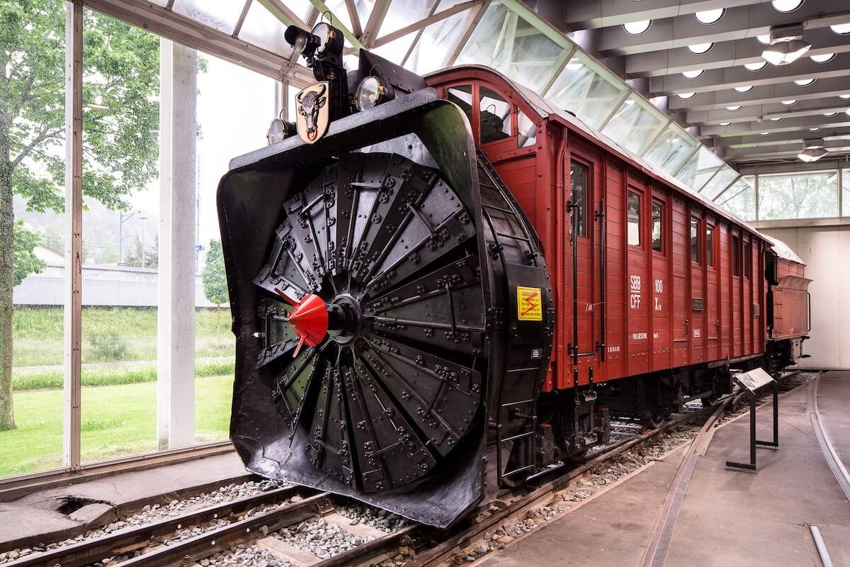 Swiss Transport Museum Snow blower.
