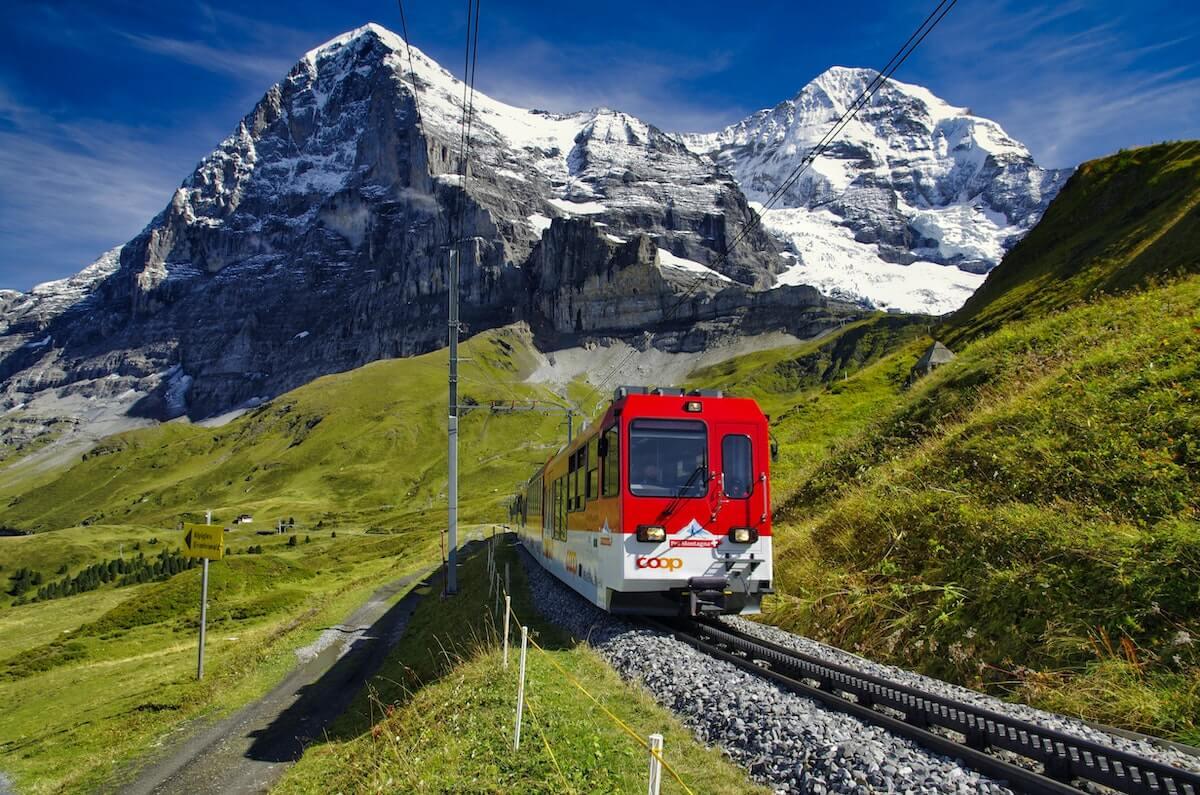 Swiss train travel.