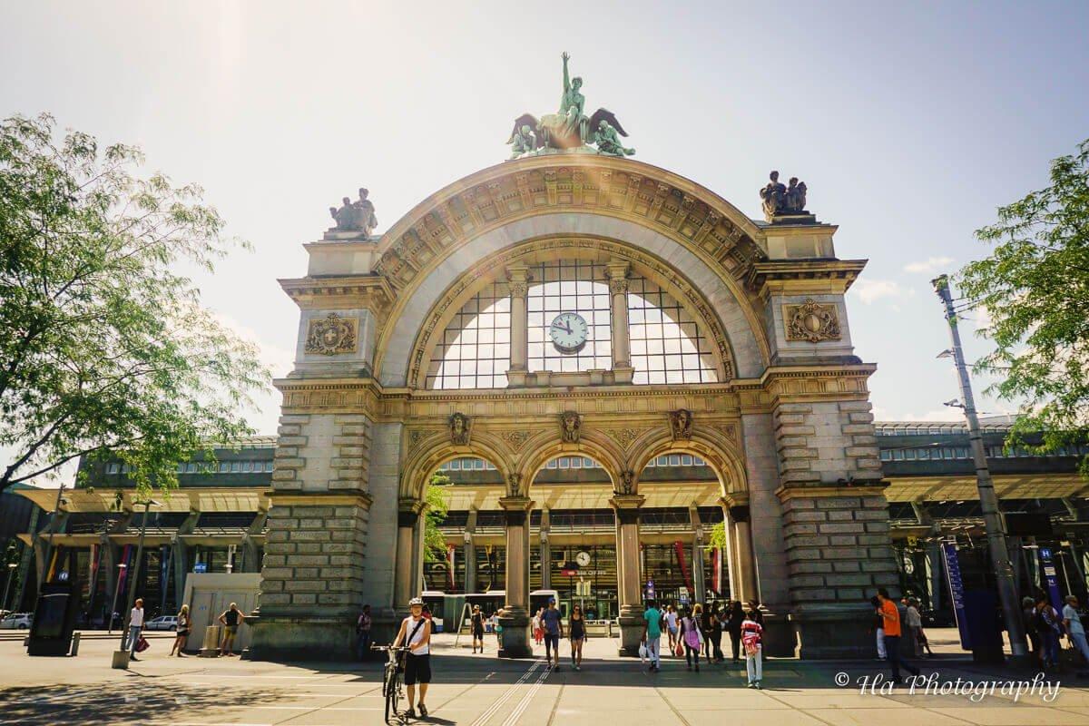 train station Lucerne Switzerland.