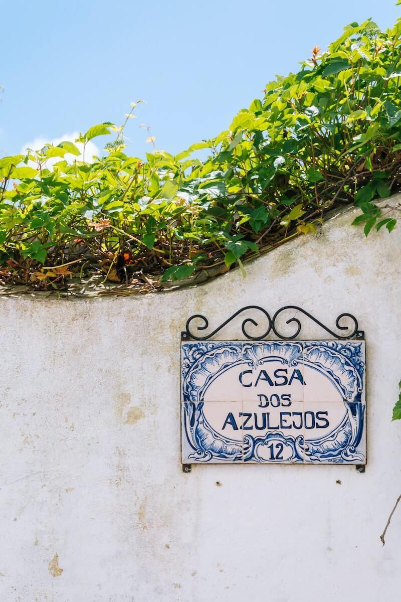 Azulejos motif Portugal.