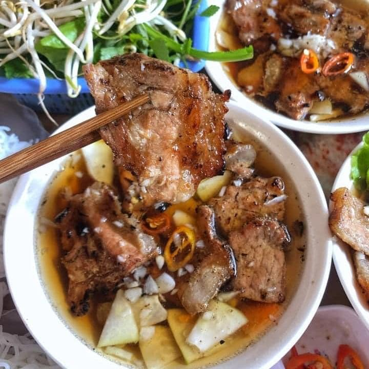 Bun cha vietnamese food.