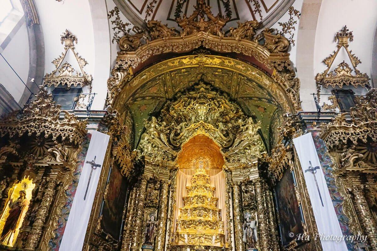 Carmo Church interior Porto Portugal.