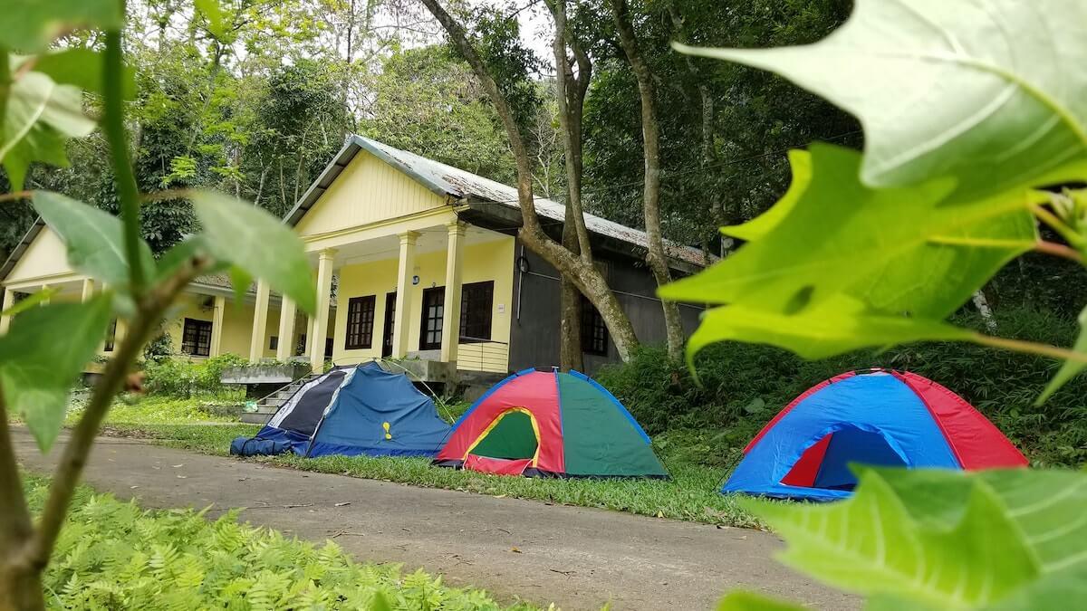 Cuc Phuong camping Vietnam.