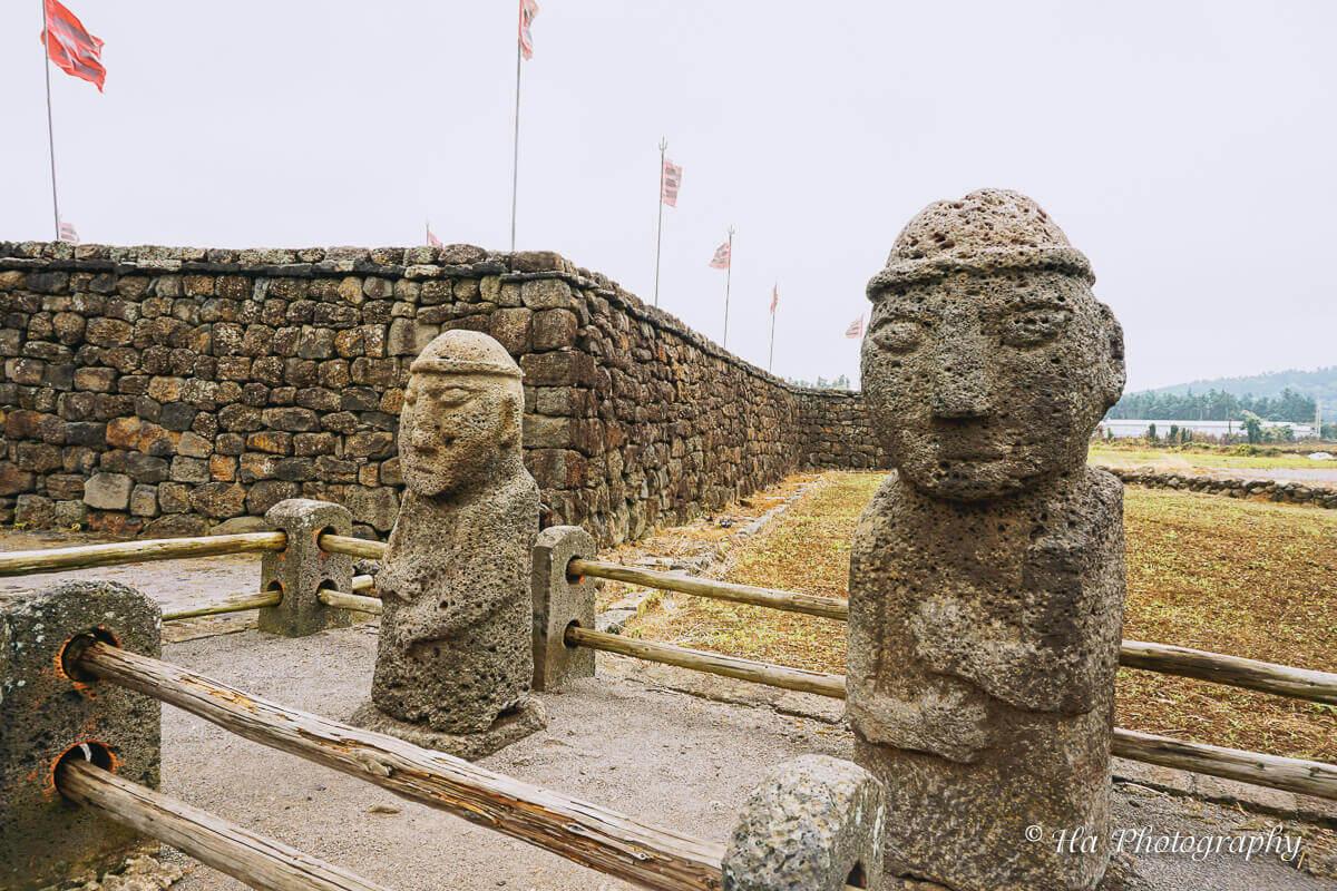 Dolharubang statue Jeju Korea.
