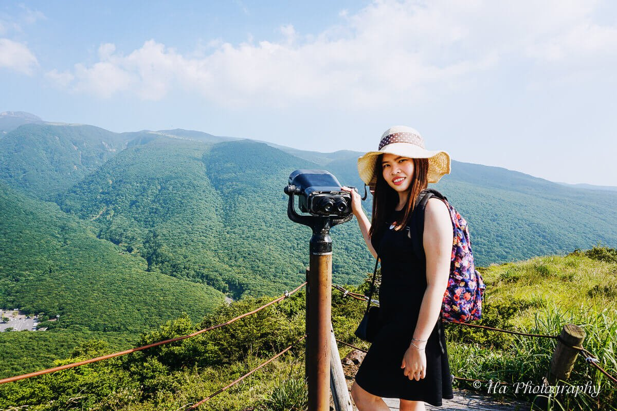 Eoseungsaengak hiking trail Jeju island Korea.