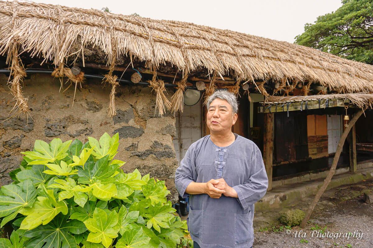 Folk Villager Jeju Korea.