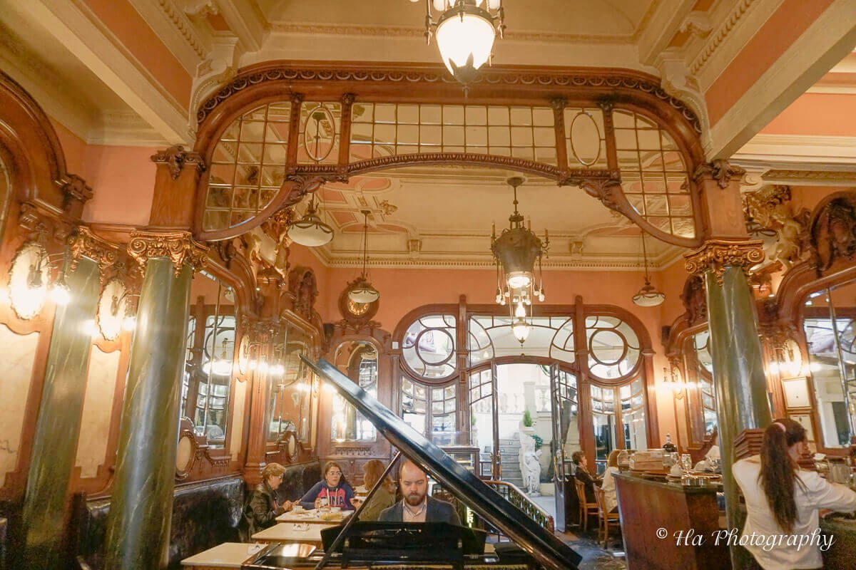 Majestic cafe piano Porto Portugal.