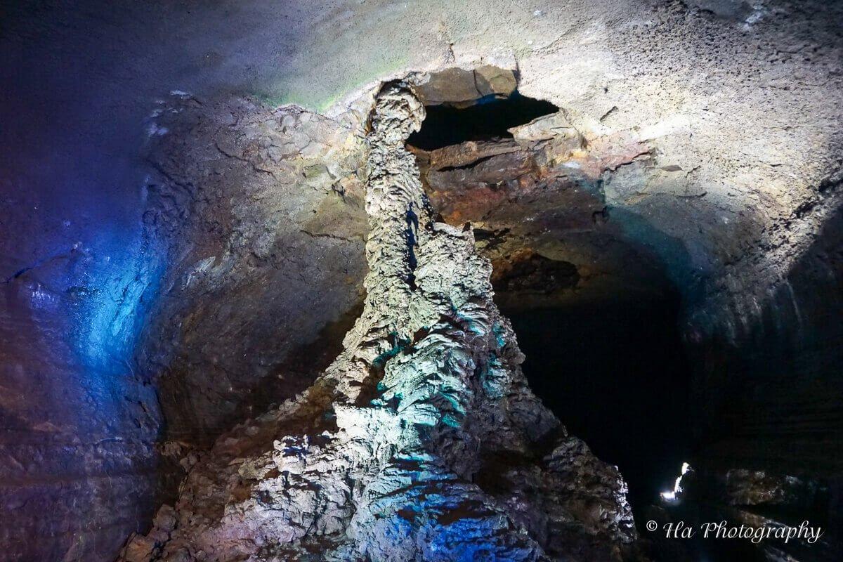 Manjanggul cave lava column Jeju Korea.