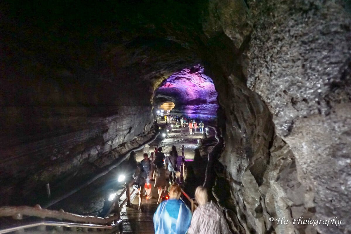 Manjanggul cave Jeju Korea.