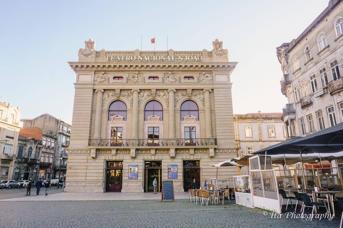 National Theater Porto Portugal.