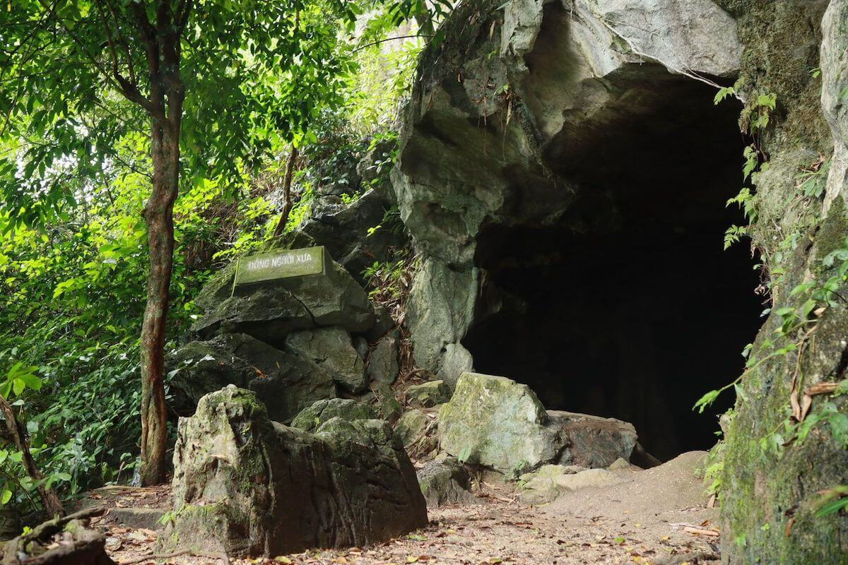 Nguoi xua cave entrance Cuc Phuong park Vietnam.