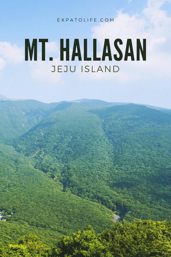 Hiking Guide Mount Hallasan Jeju Korea.