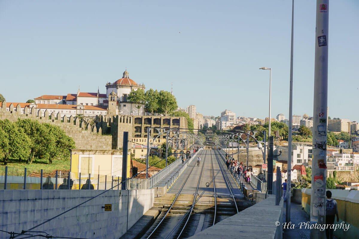 Ponte Luis bridge Porto Portugal.