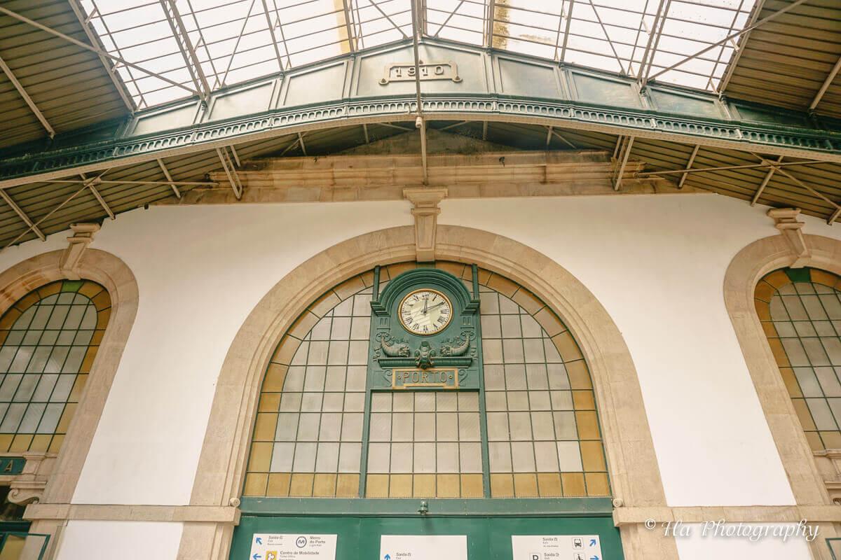 Porto train station Portugal.
