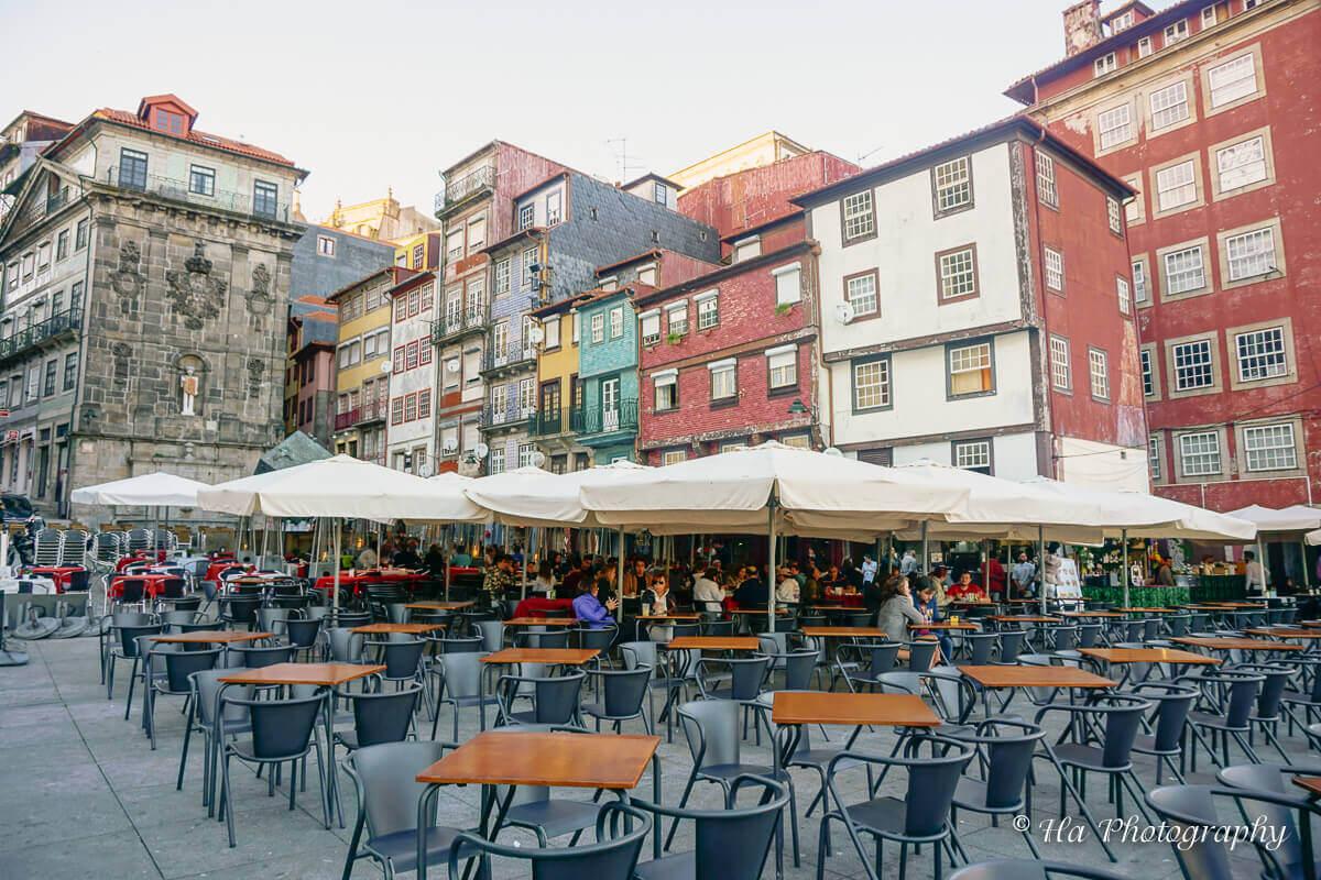Ribeira area Porto Portugal.
