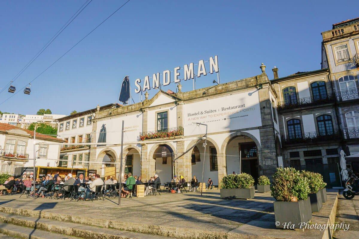 Sandeman wine Porto Portugal.