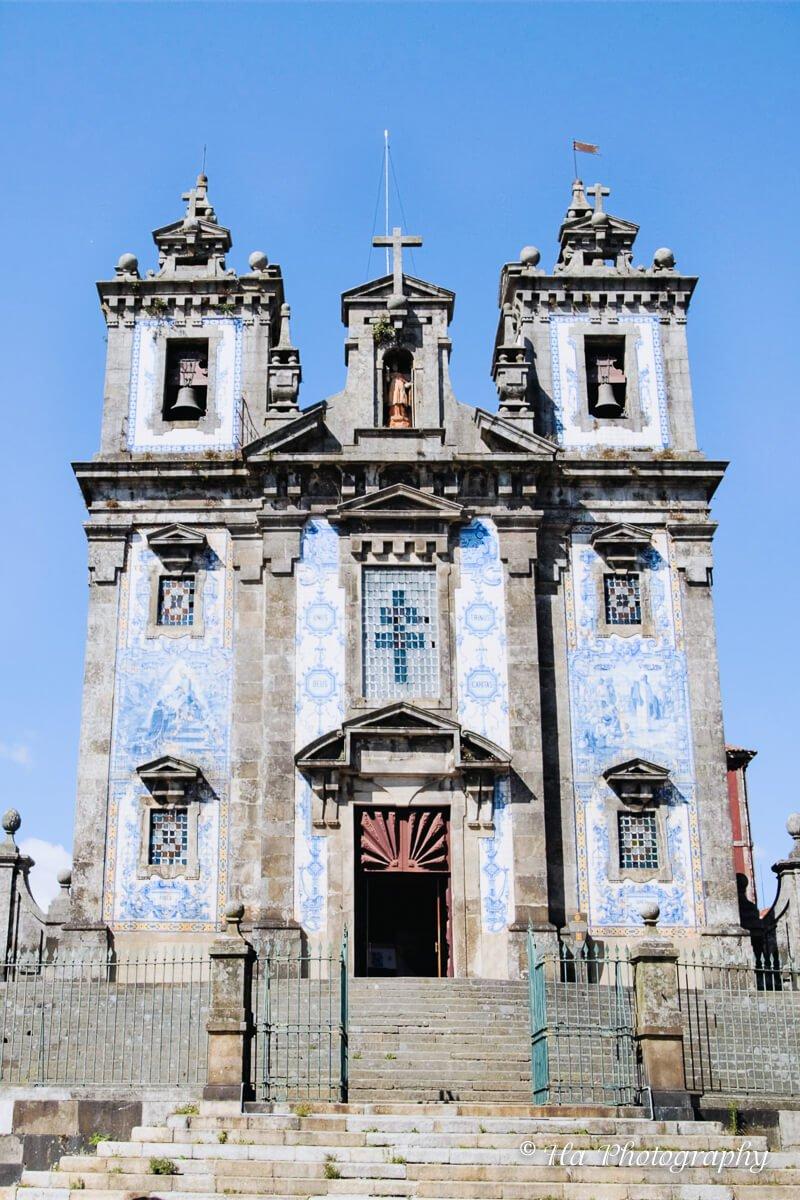 Santo Ildefonso church Porto Portugal.