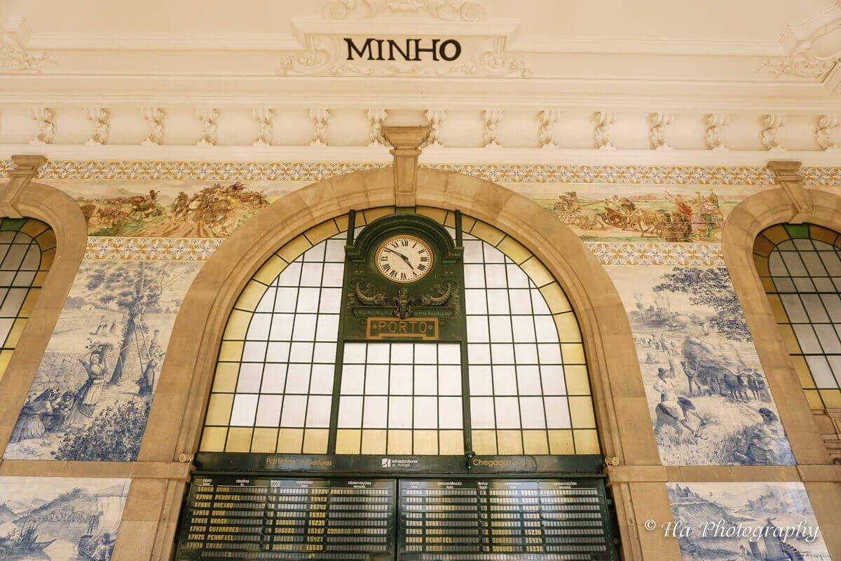 Sao Bento station Porto Portugal.