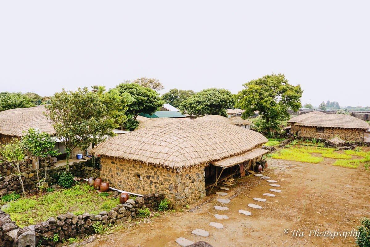 Seongeup Folk Village Jeju Korea.
