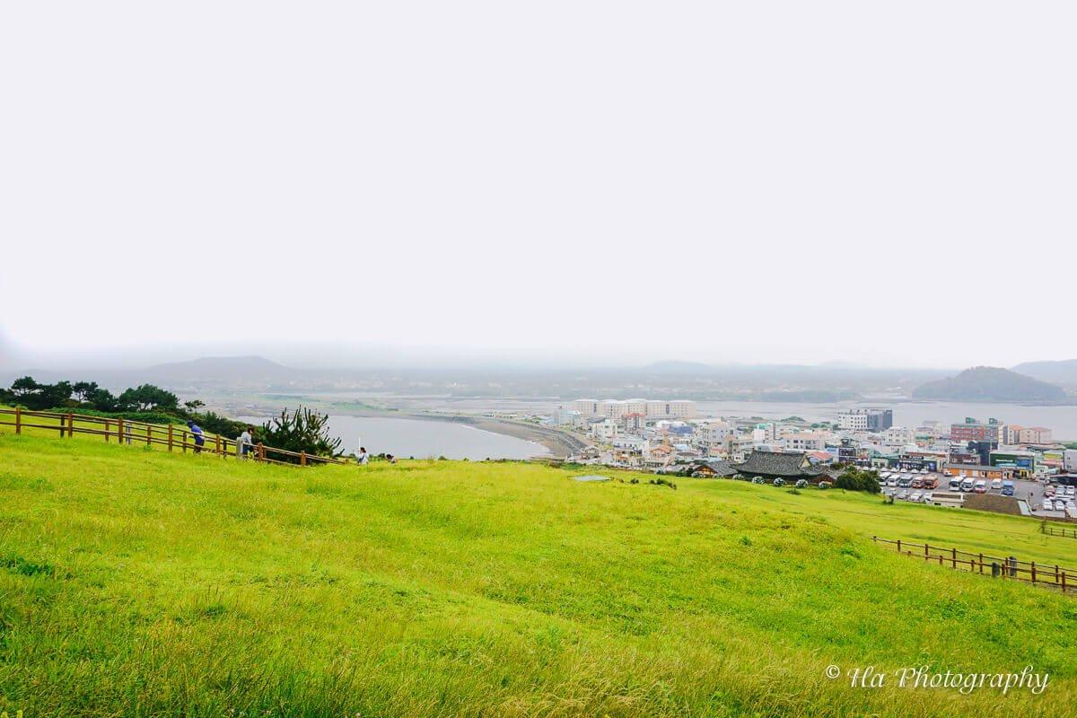 Seongsan Ilchulbong city view Jeju Korea.