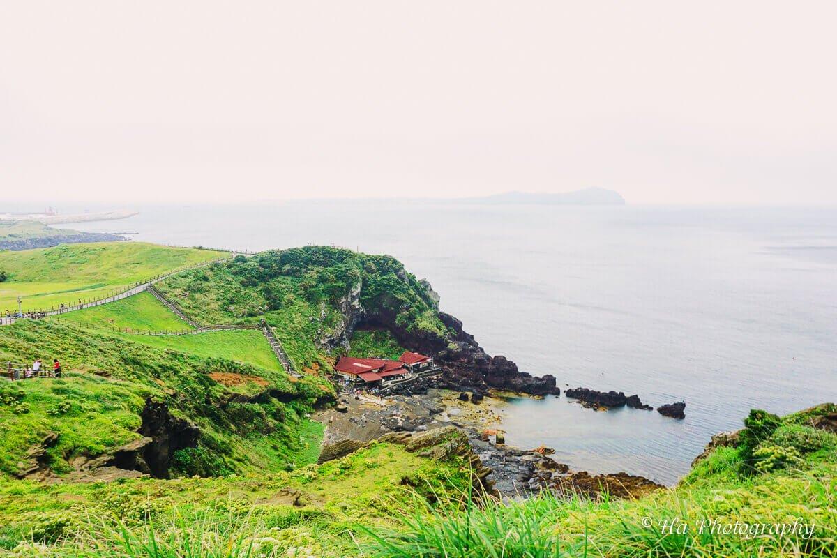 Seongsan Ilchulbong sea view Jeju Korea.