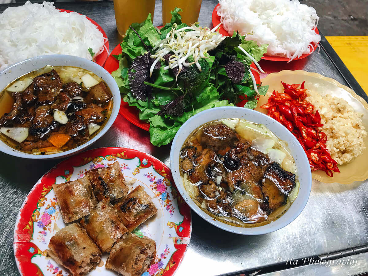 Bun cha Hanoi Vietnamese food.