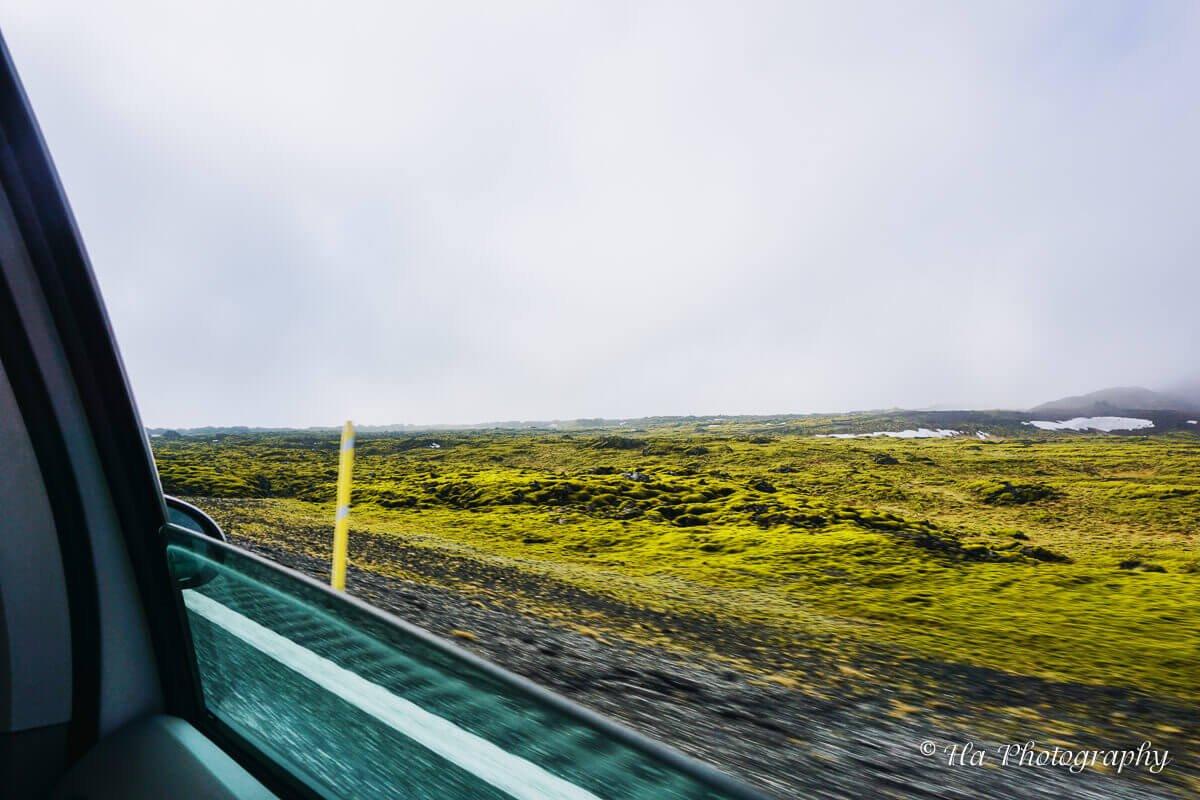 car window Iceland.