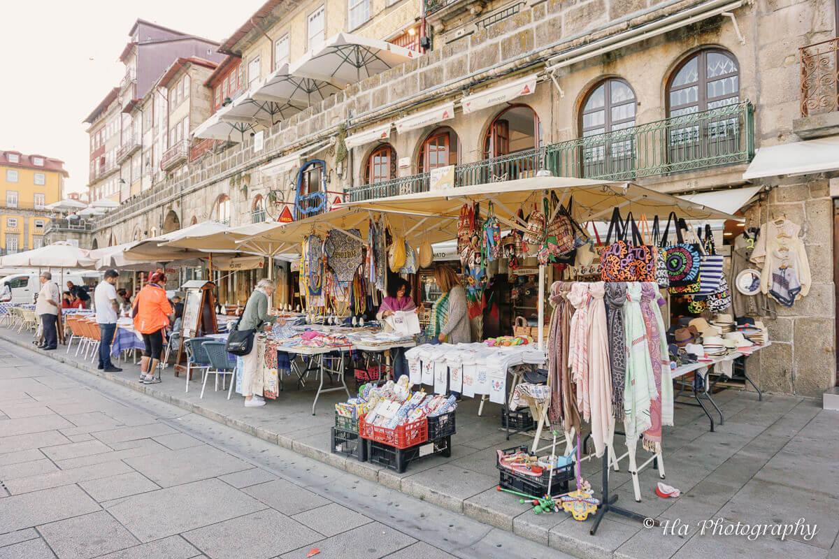 clothes vendor Ribeira Porto Portugal.