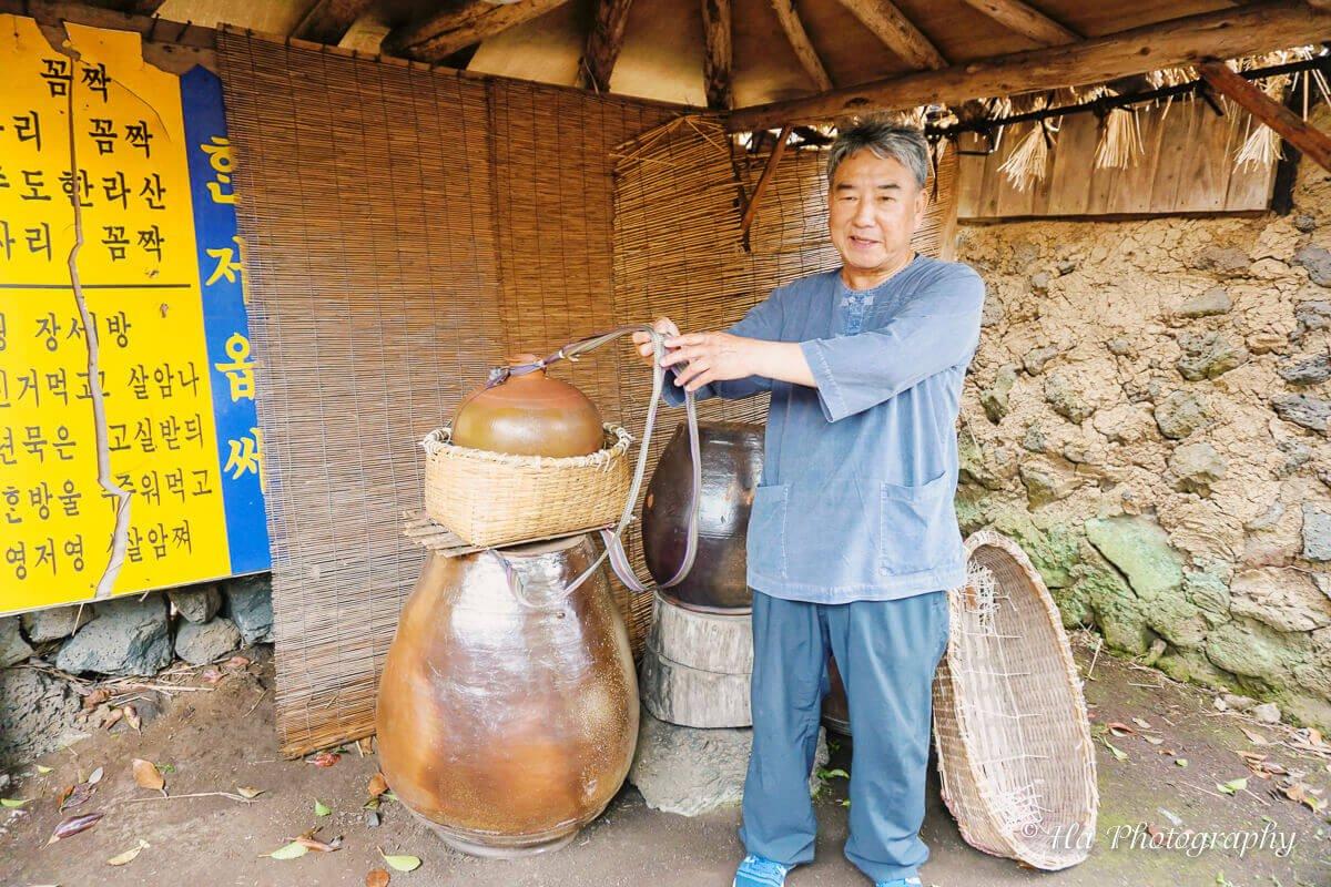 folk village tool Jeju Korea.