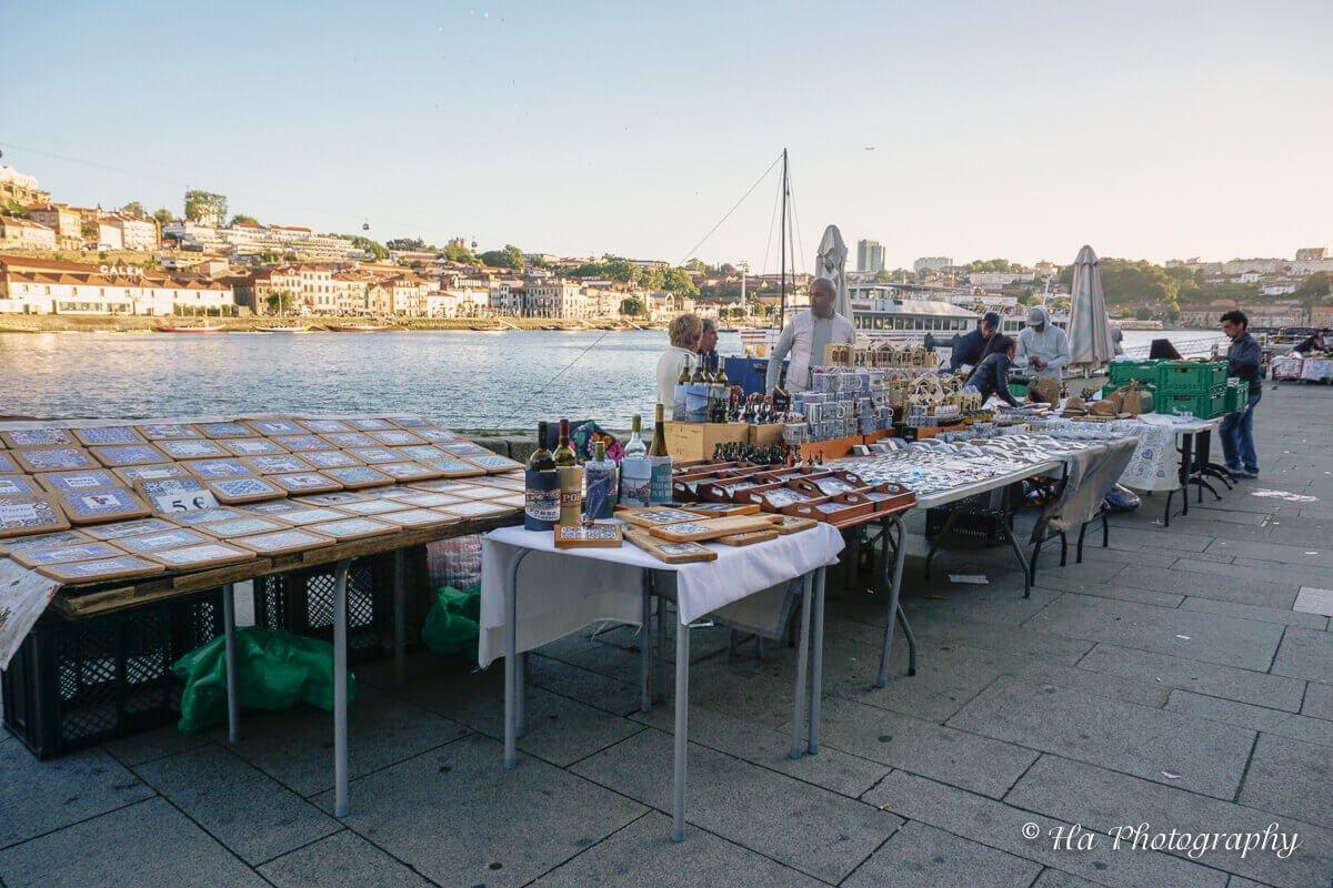 street vendor Ribeira Porto Portugal.