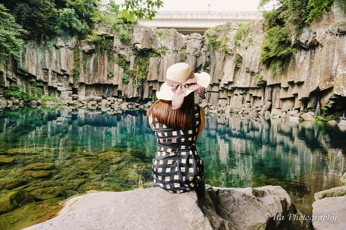 Cheonjeyeon Waterfall Jeju Korea.