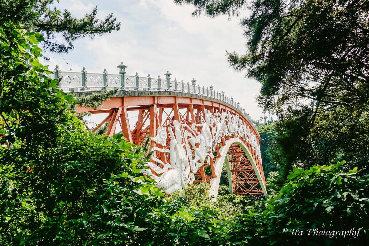 Cheonjeyeon bridge Jeju Korea.