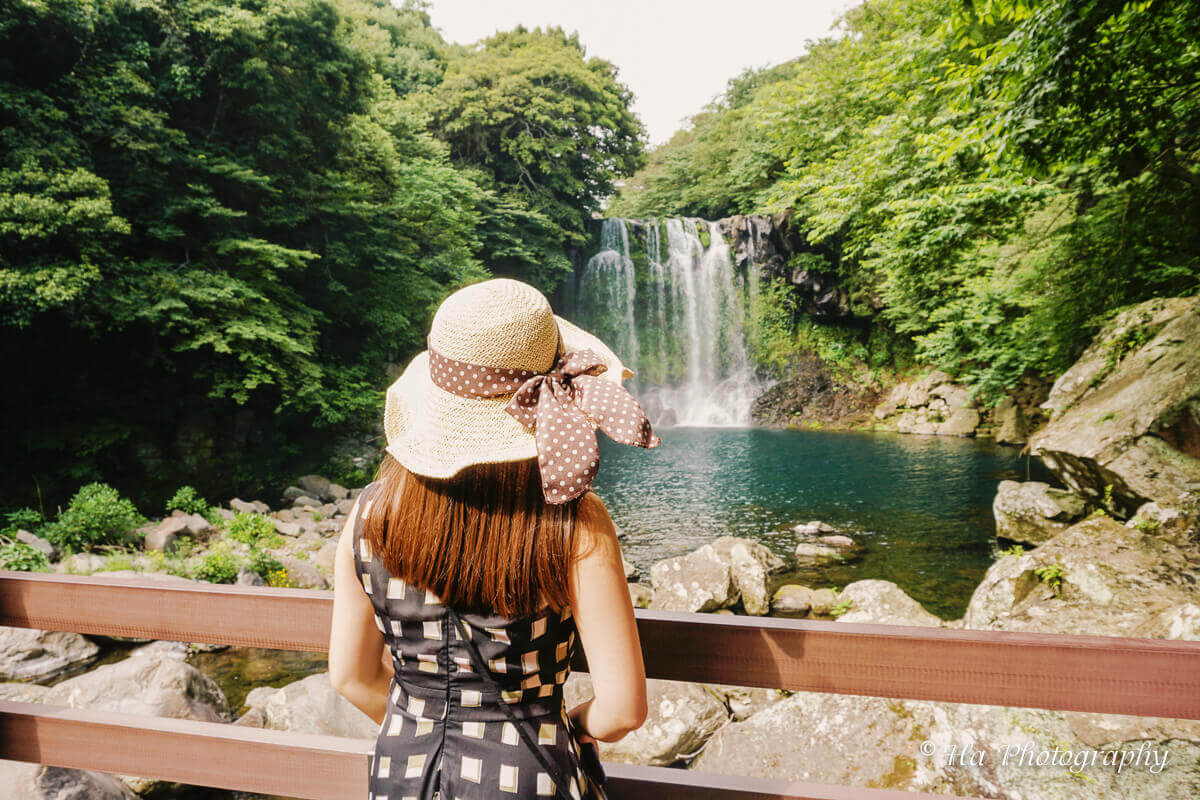 Cheonjeyeon falls trip Jeju Korea.