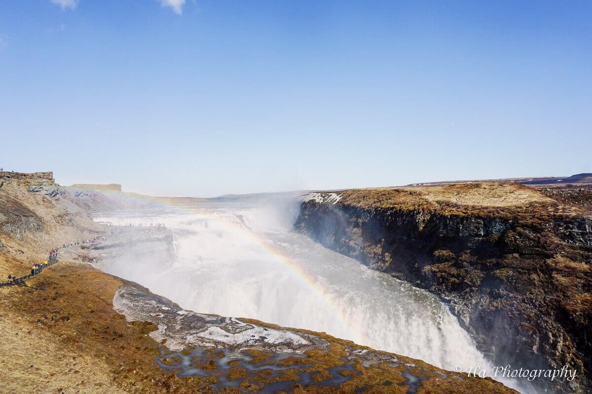 Gullfoss waterfall iceland.