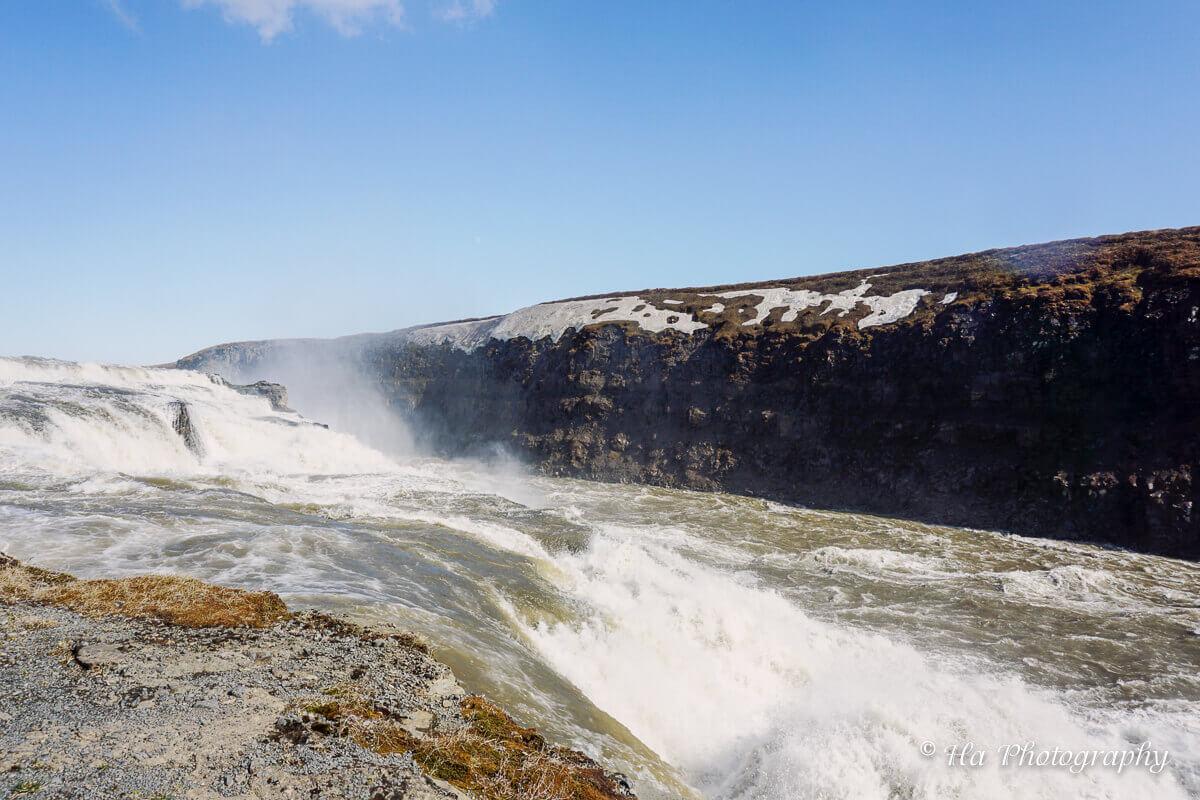 Gullfoss falls iceland.
