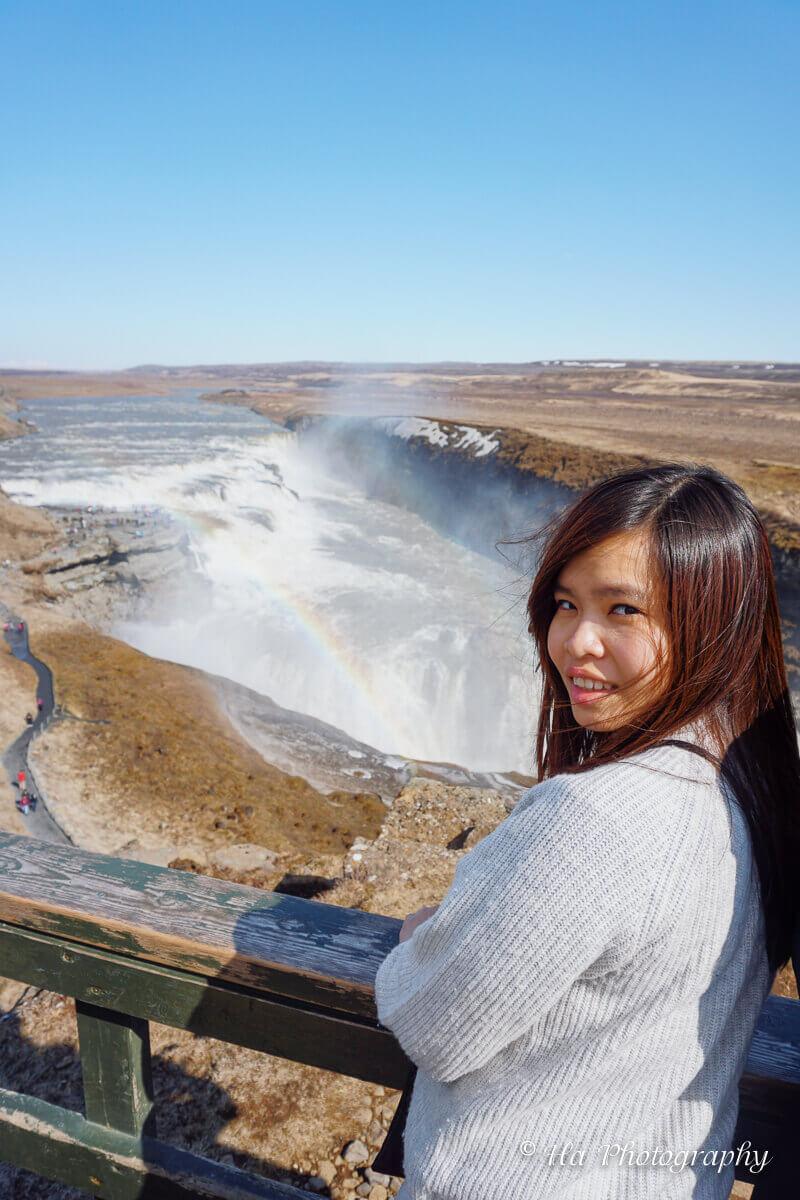 Gullfoss waterfall trip iceland.