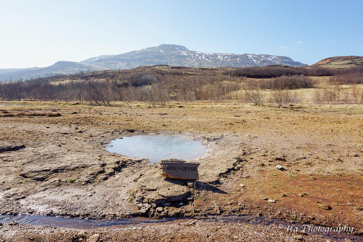 Litli Geysir Iceland.