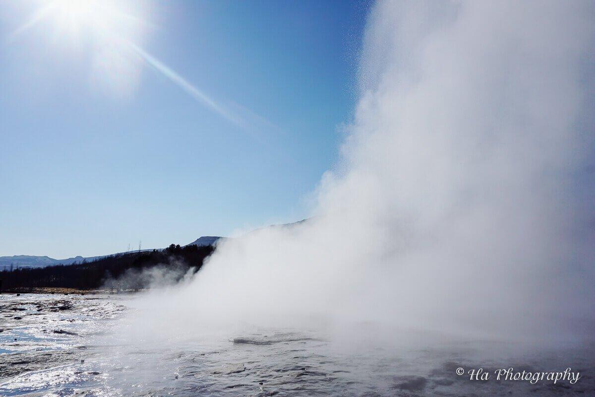 Strokkur Geysir Iceland.