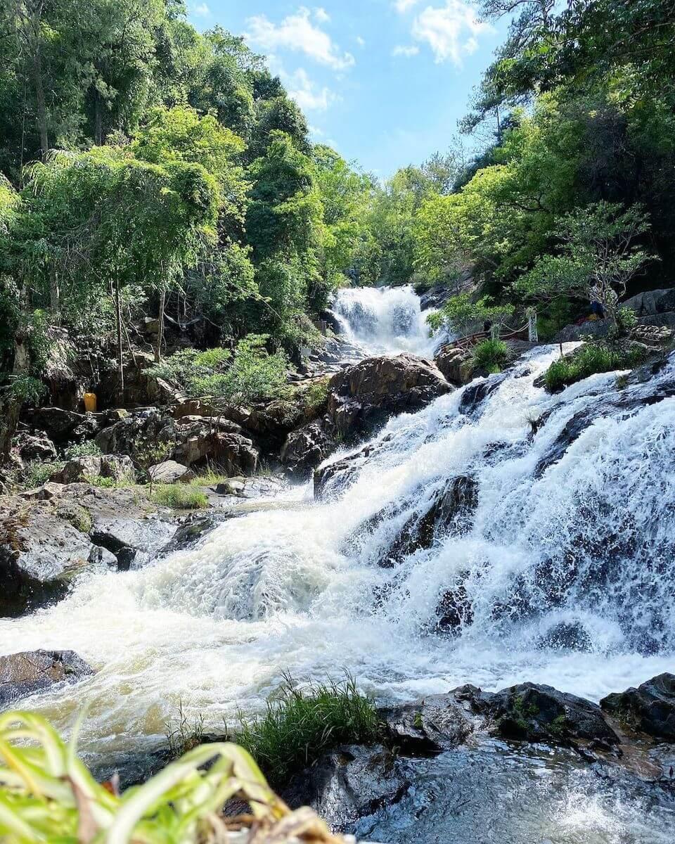 Datanlat waterfall dalat vietnam.