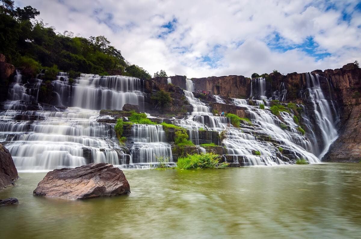 Pongour waterfall vietnam.