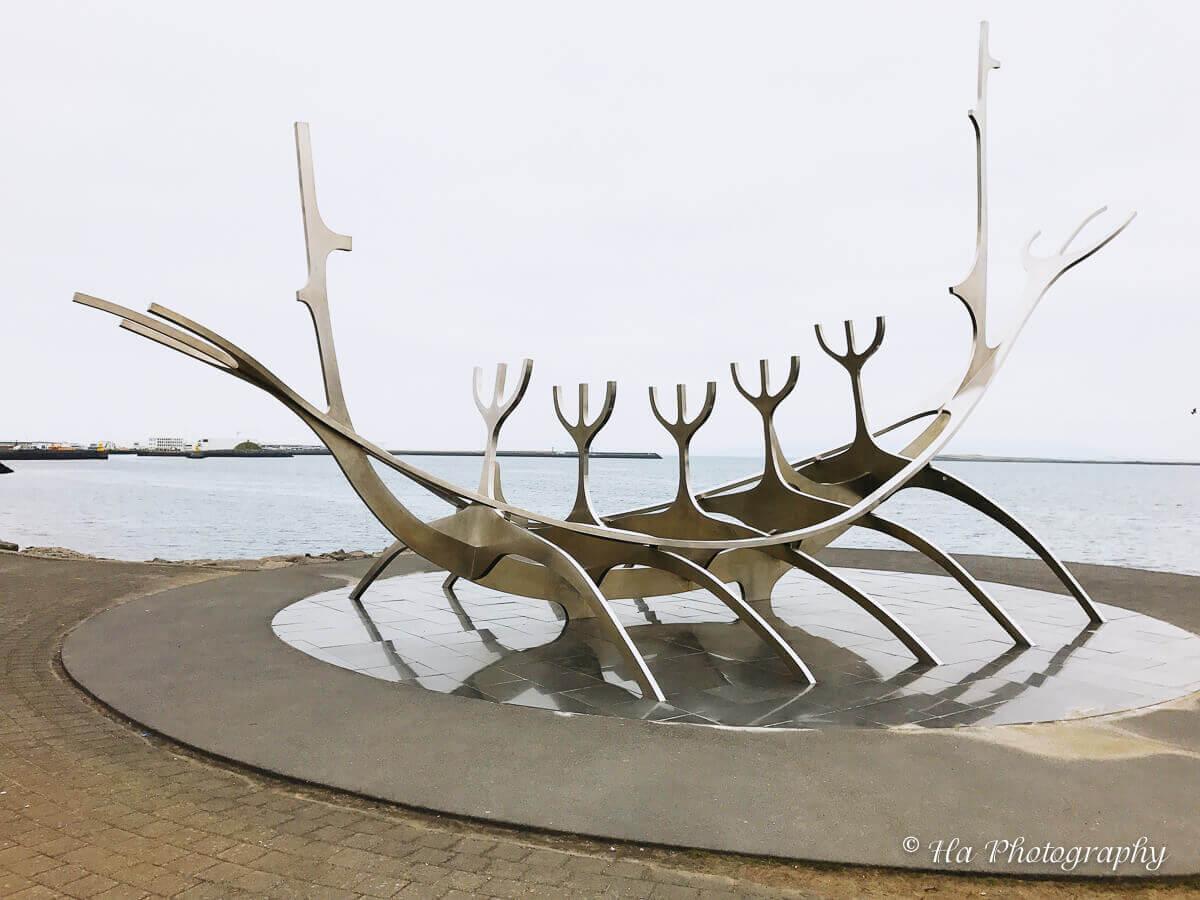 Sun Voyager Sculpture reykjavik iceland.