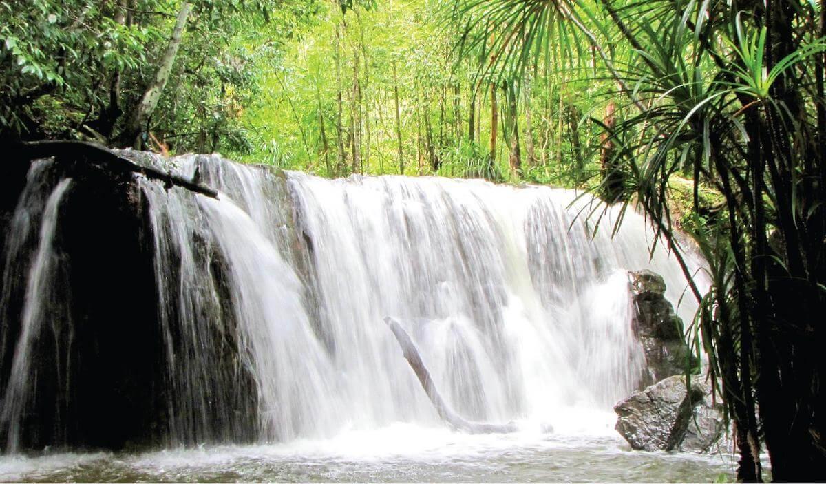 Suoi Tranh waterfall Phu Quoc Vietnam.