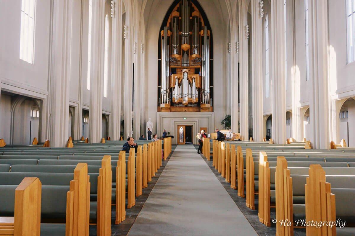 church organ reykjavik iceland.