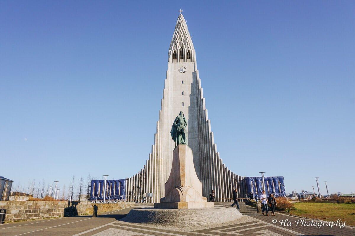 hallgrimskirkja church reykjavik iceland.