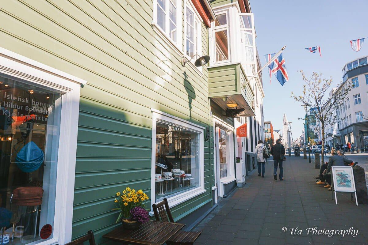 street reykjavik iceland.